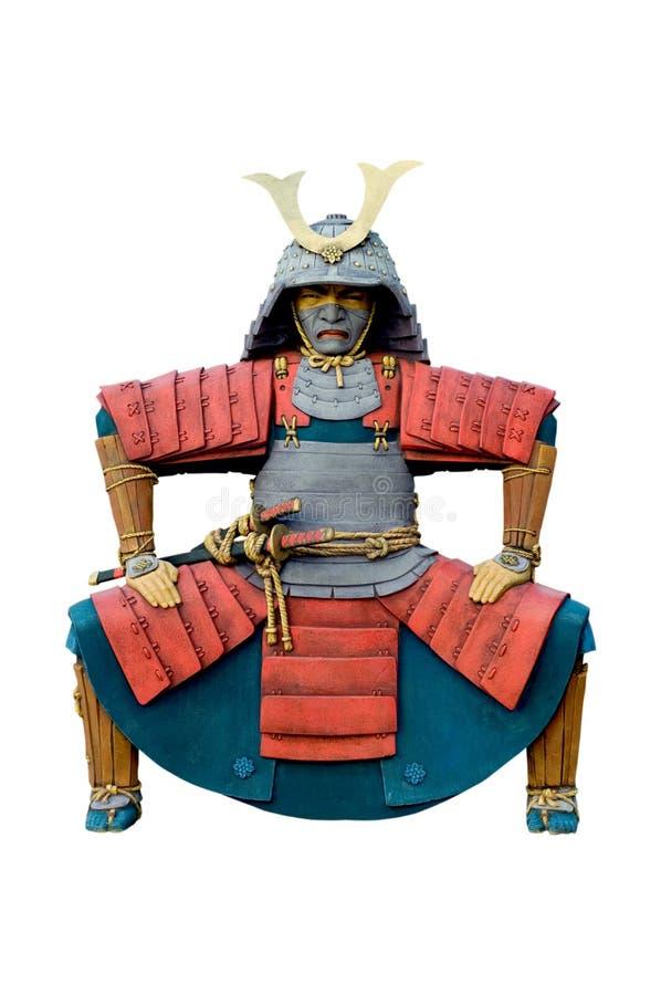 Standbeeld van Chinese strijder. stock foto