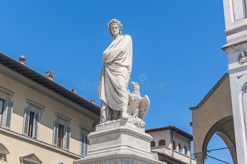 Standbeeld van Dante Alighieri in Florence, Italië royalty-vrije stock foto's