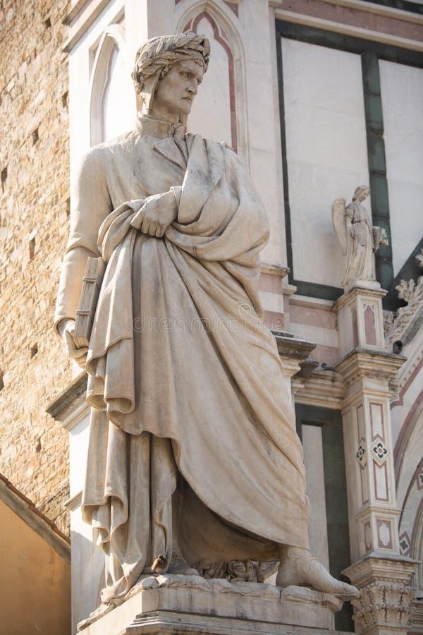 Standbeeld van Dante stock foto's