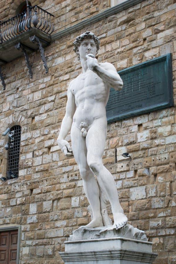 Standbeeld van David door Michelangelo stock afbeeldingen