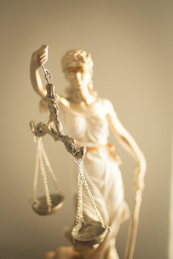 Standbeeld van de advocaten het wettelijke rechtvaardigheid royalty-vrije stock foto