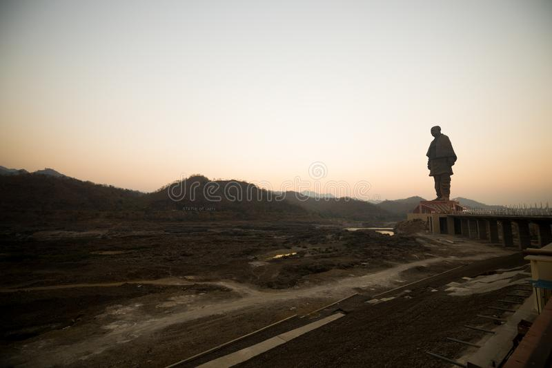 Standbeeld van de Dam Gujarat van Eenheidssardar Sarovar royalty-vrije stock foto