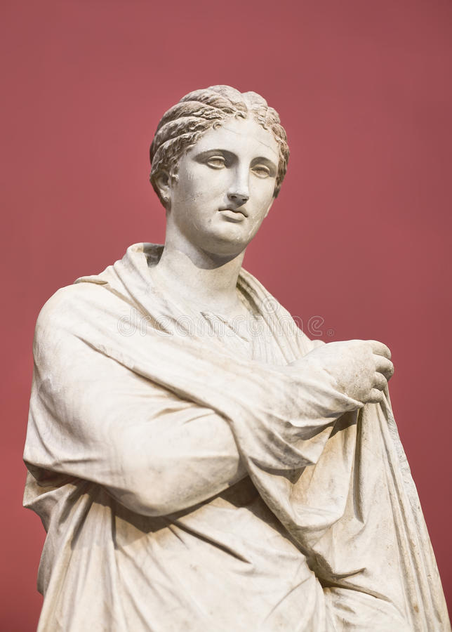 Standbeeld van de Godin van Athena stock afbeelding