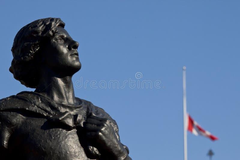 Standbeeld van de heer galahad royalty-vrije stock afbeelding
