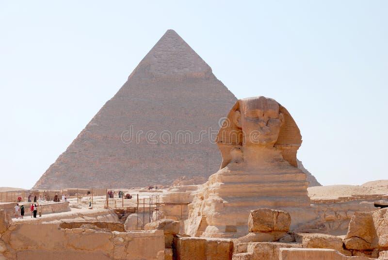 Standbeeld van de Sfinx stock afbeeldingen