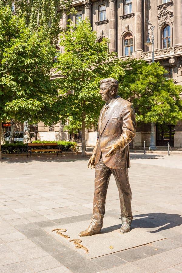 Standbeeld van de vroegere V.S. voorzitter Ronald Reagan op Liberty Square i royalty-vrije stock fotografie