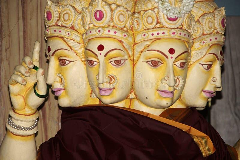 Standbeeld van Devi Gayatri Mata stock foto