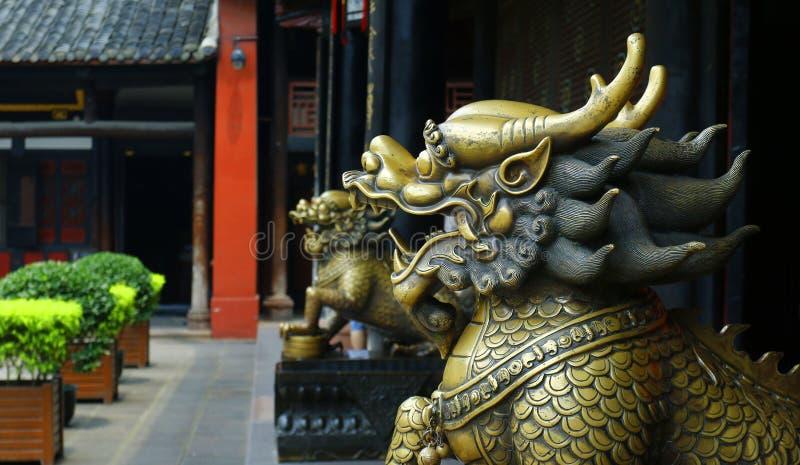 Standbeeld van Draak royalty-vrije stock afbeeldingen