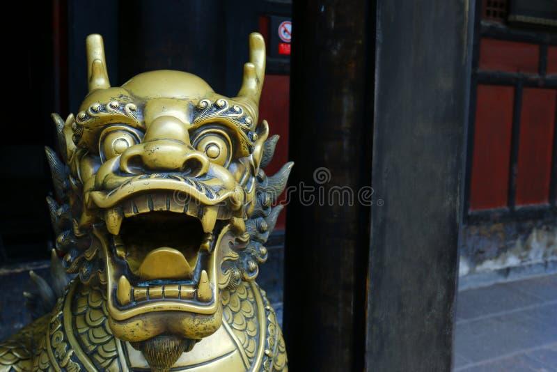 Standbeeld van Draak stock fotografie