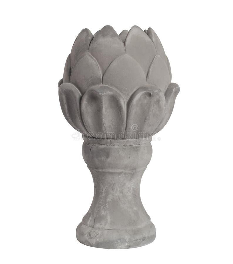 Standbeeld van een Artisjok in concreet grijs royalty-vrije stock foto