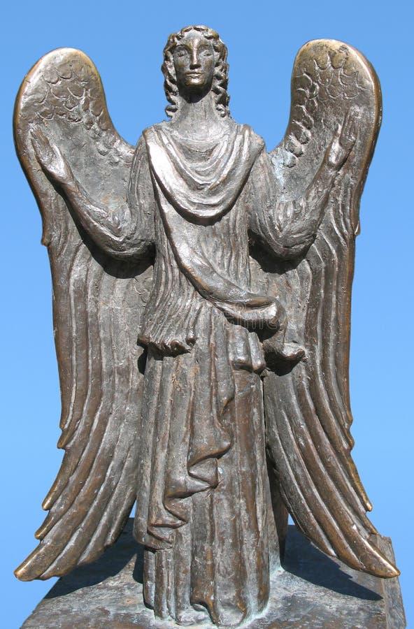 Standbeeld van engel stock foto