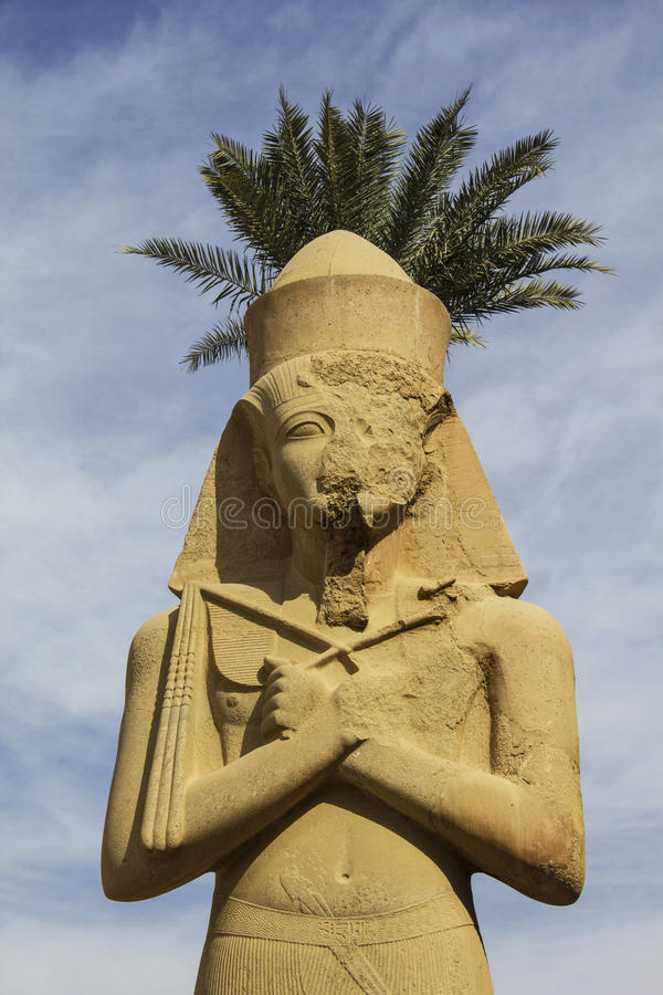 Ramses II. Tempel Karnak. Luxor, Egypte royalty-vrije stock afbeelding