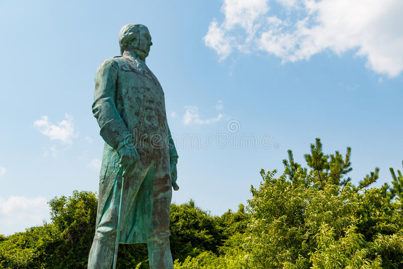 Standbeeld van Francis Joseph Paul de Grasse in Virginia Beach royalty-vrije stock foto
