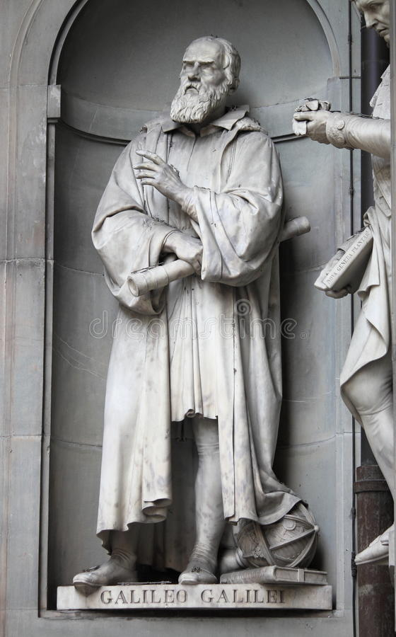 Standbeeld van Galileo Galilei stock foto's