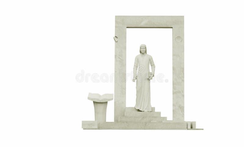 Standbeeld van geïsoleerdei Dante -. stock afbeelding