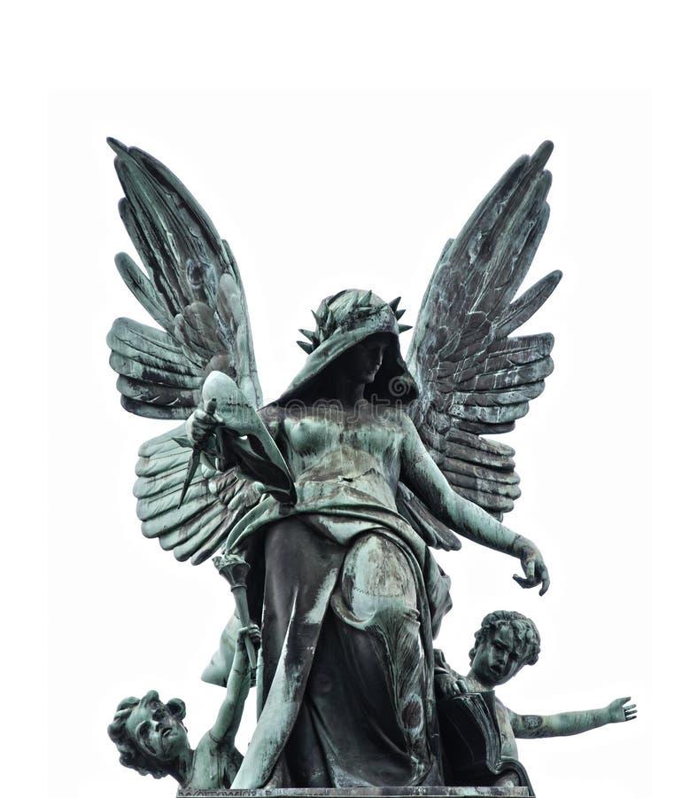 Standbeeld van gevallen engel royalty-vrije stock foto's