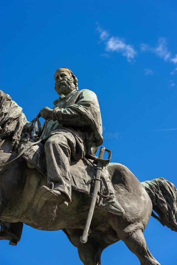 Standbeeld van Giuseppe Garibaldi - Verona Italy royalty-vrije stock afbeeldingen