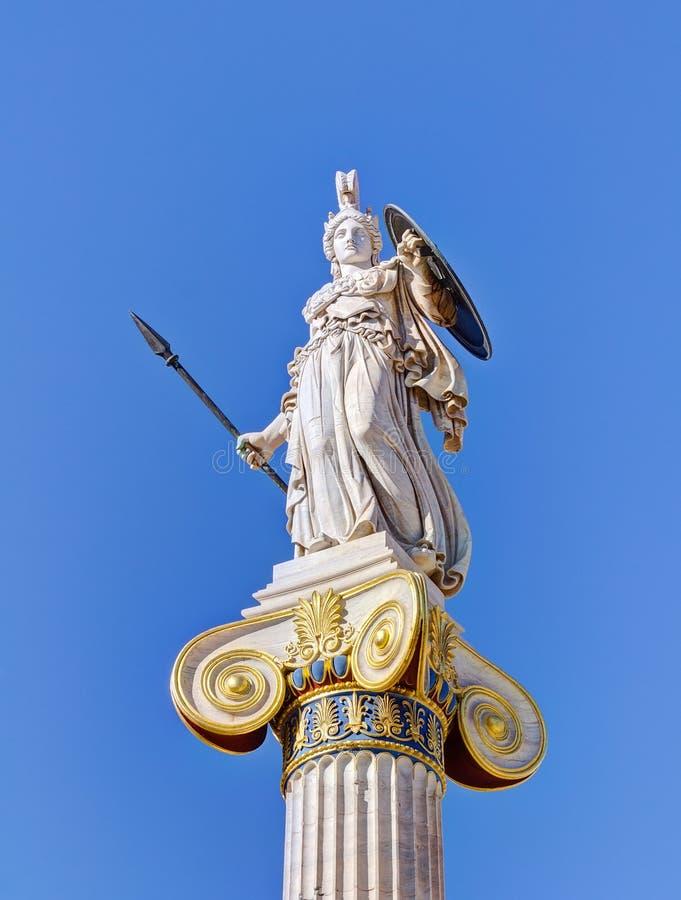 Standbeeld van godin Athena, Athene, Griekenland royalty-vrije stock afbeelding
