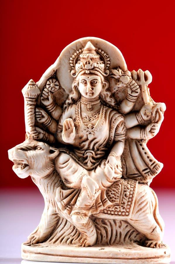 Standbeeld van Godin Durga stock fotografie