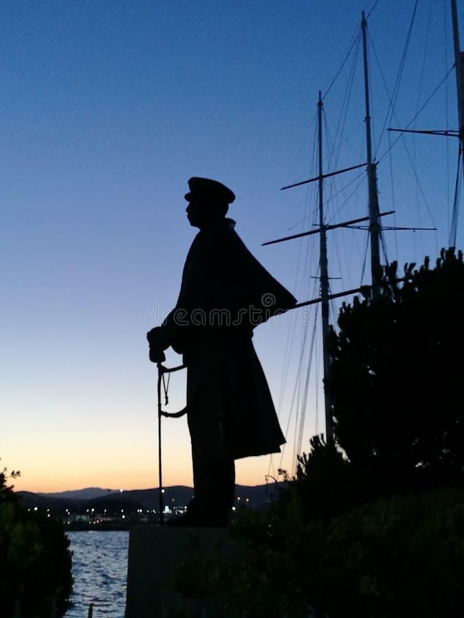 Standbeeld van Griekse Admiraal royalty-vrije stock afbeelding