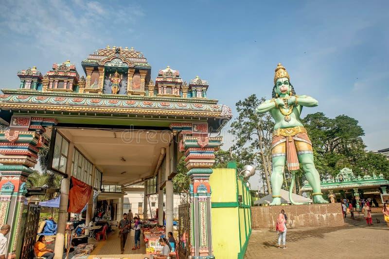 Standbeeld van Hanuman bij de Ramayana-Holen van Holbatu, Kuala Lumpur royalty-vrije stock foto's