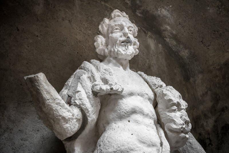 Standbeeld van Hercules stock afbeeldingen