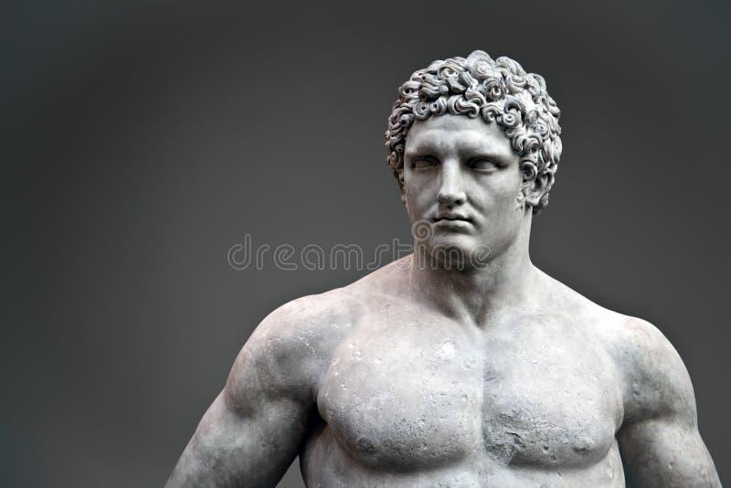Standbeeld van Hercules stock afbeelding
