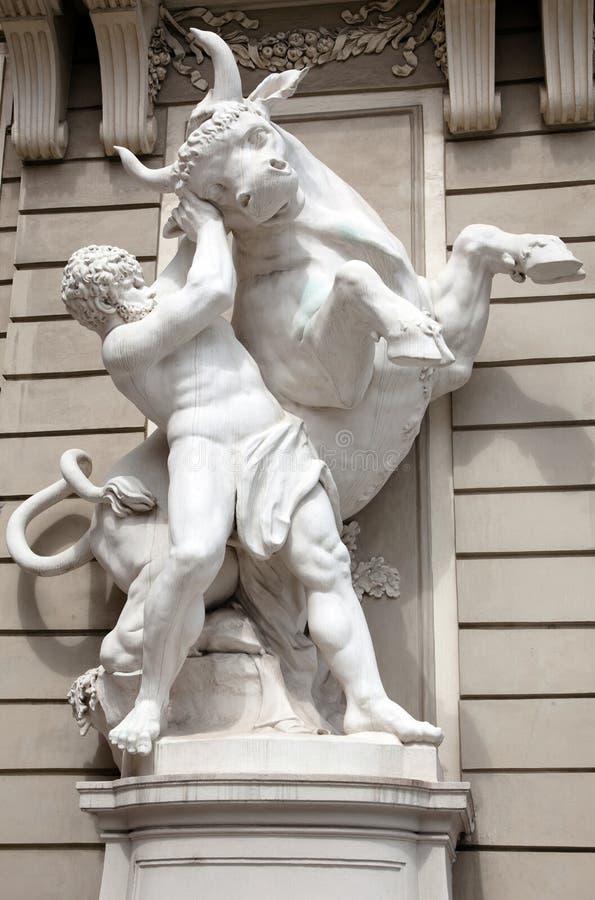 Standbeeld van Hercules royalty-vrije stock foto