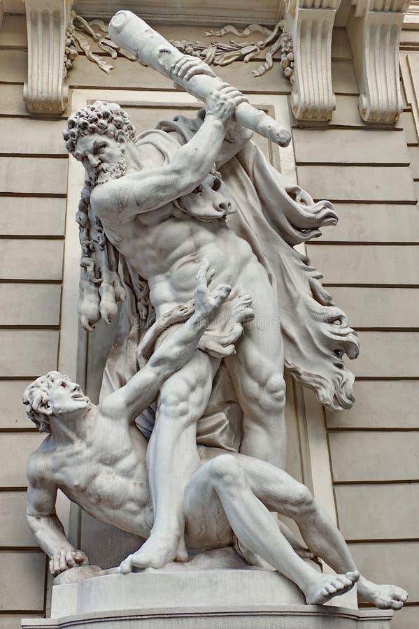 Standbeeld van Hercules stock foto