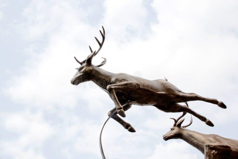 Standbeeld van herten royalty-vrije stock afbeeldingen