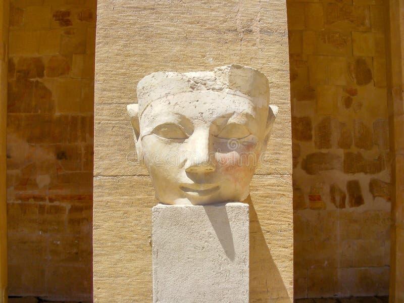 Standbeeld van het Hoofd van een Pharaoh in Luxor Egypte royalty-vrije stock foto