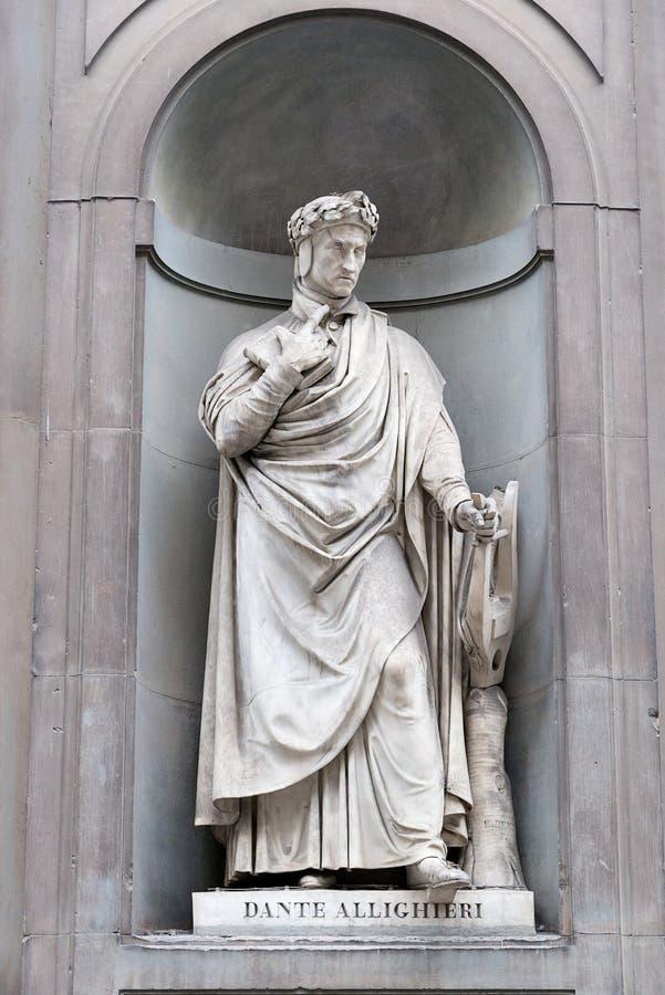 Standbeeld van het standbeeld Alighieri van Dante Alighieri stock foto