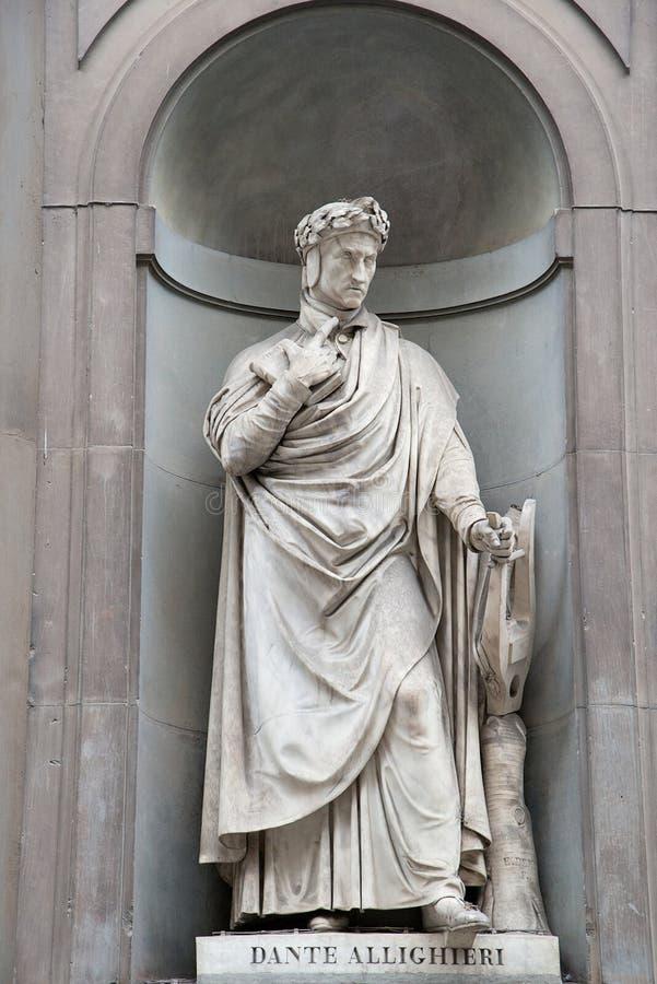 Standbeeld van het standbeeld Alighieri van Dante Alighieri royalty-vrije stock fotografie