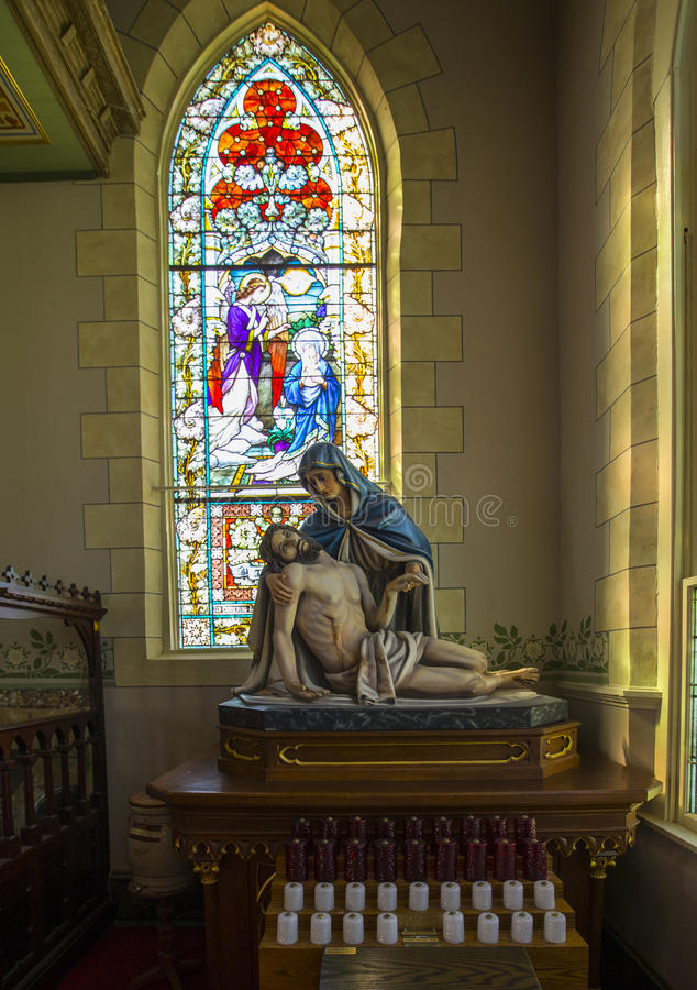 Standbeeld van het sterven van Jesus royalty-vrije stock afbeeldingen