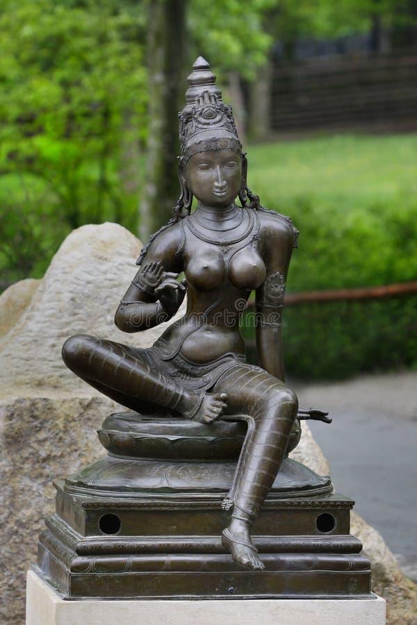 Standbeeld van India van de Parvati het Hindoese Godin royalty-vrije stock foto