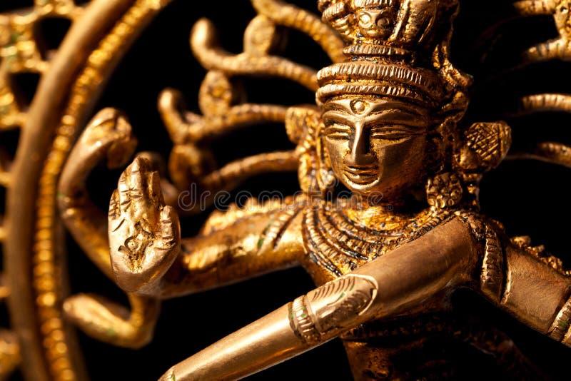 Standbeeld van Indische Hindoese god Shiva stock afbeelding