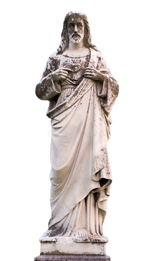 Standbeeld van Jesus stock afbeeldingen