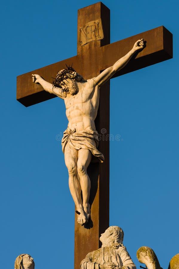 Standbeeld van Jesus Christ Avignon, Frankrijk royalty-vrije stock afbeeldingen