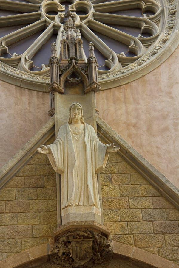 Standbeeld van Jesus Christ-zorg van zielen aan de mensen royalty-vrije stock foto's
