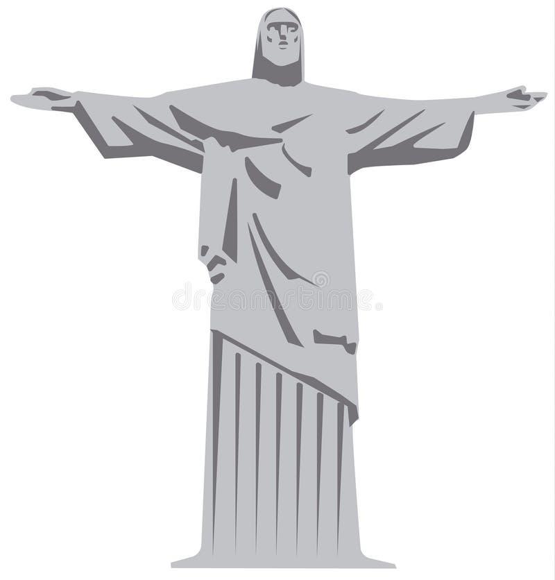 Standbeeld van Jesus-Christus vector illustratie