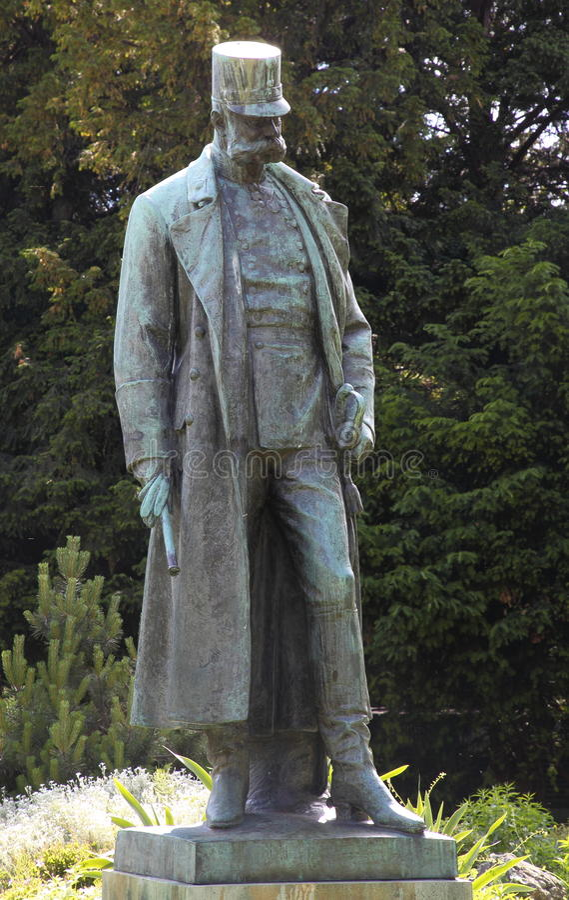 Standbeeld van Keizer Franz Josef I stock foto
