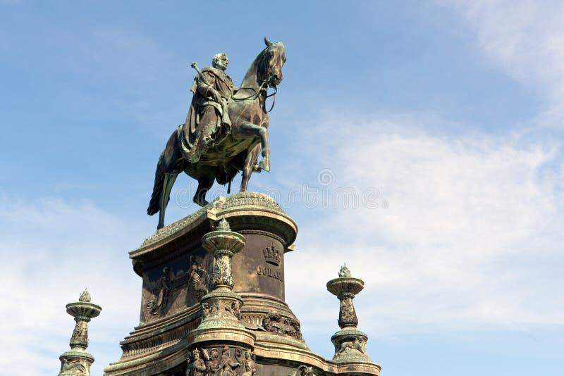Standbeeld van Koning John van Saksen royalty-vrije stock afbeeldingen