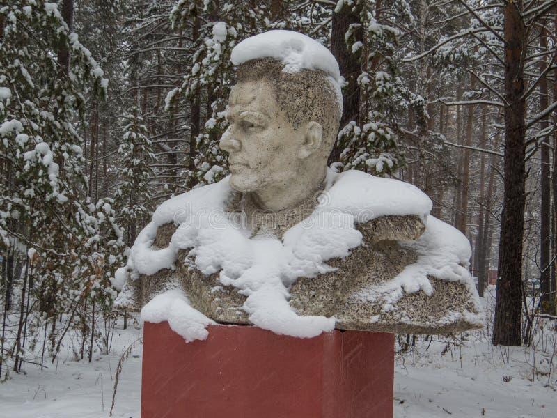 Standbeeld van Konstantin Zaslonov stock afbeelding
