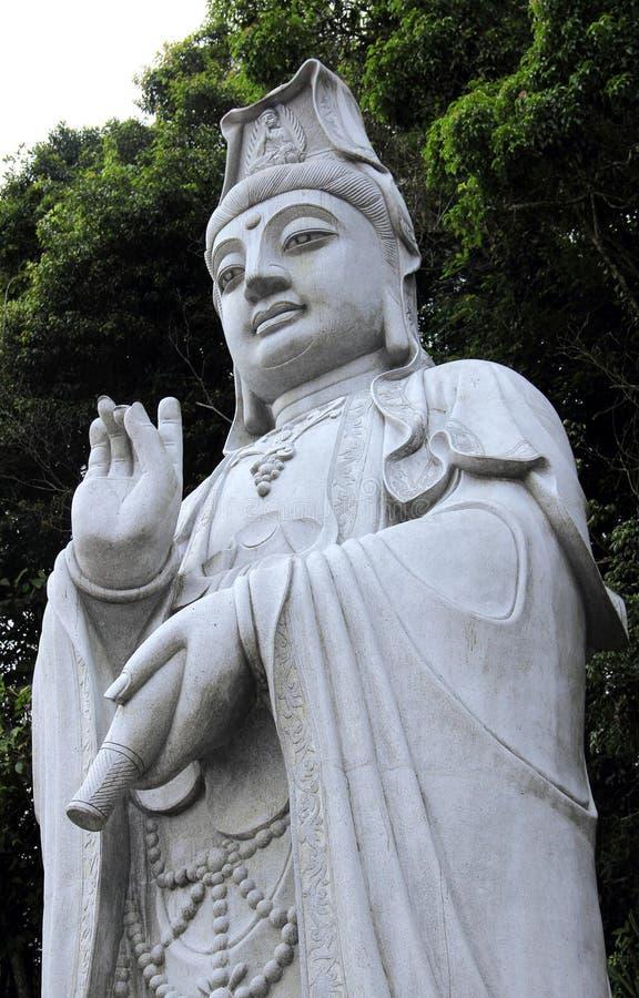 Standbeeld van Kwan Im Goddess-portret in Chin Swee Temple, Maleisië stock foto's
