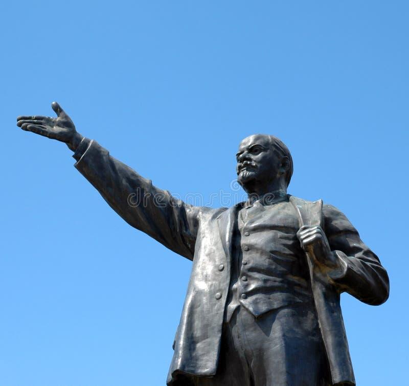 Standbeeld van Lenin royalty-vrije stock foto's