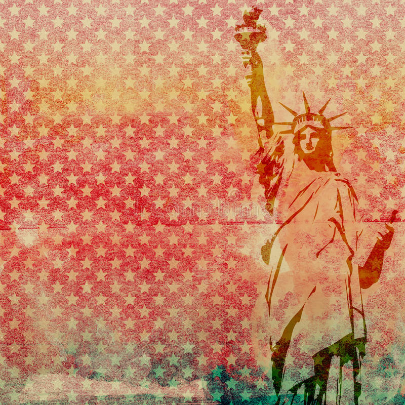 Standbeeld van Liberty Scrapbook Paper stock foto's