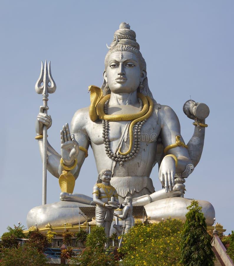 Standbeeld van Lord Shiva stock afbeelding