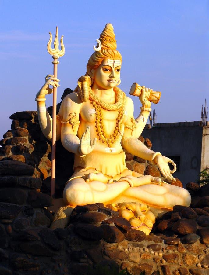Standbeeld van Lord Shiva in Karnataka royalty-vrije stock fotografie