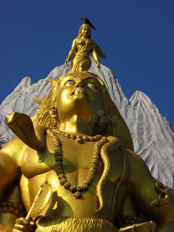 Standbeeld van Lord Shiva in Murdeshwar royalty-vrije stock foto's