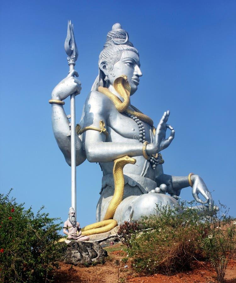 Standbeeld van Lord Shiva, Murdeshwar, Karnataka, India stock afbeeldingen